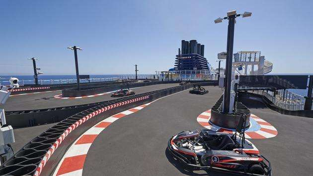 Go-Kart Race Track aboard Norwegian Joy, Norwegian Cruise Line