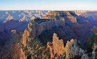 Grand Canyon National Park: North Rim: Muted Sunrise From Cape Royal